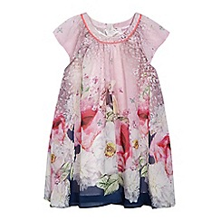 Baker by Ted Baker - Girls' pink floral rabbit print dress