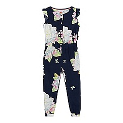 Baker by Ted Baker - Girls' navy floral print jumpsuit