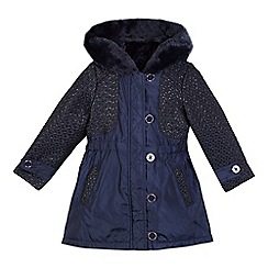 Baker by Ted Baker - Girls' navy 3-in-1 coat