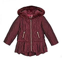 Baker by Ted Baker - Girls' dark pink peplum coat
