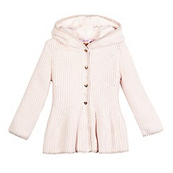 Baker by Ted Baker - Girls' pink peplum hood cardigan