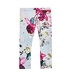 Baker by Ted Baker - Girls' light blue floral and hummingbird print leggings