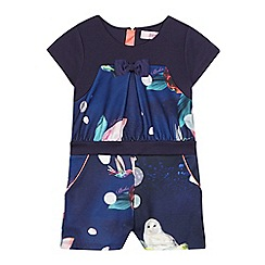 Baker by Ted Baker - Girls' navy printed playsuit