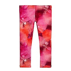 Baker by Ted Baker - Girls' pink graphic bow print quilted leggings