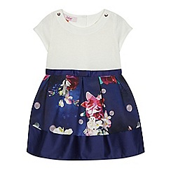 Baker by Ted Baker - Girls' white and navy floral print dress