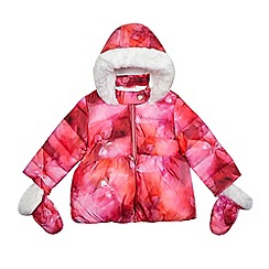 Baker by Ted Baker - Girls' pink bow print coat