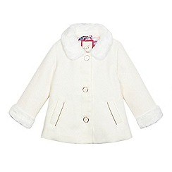 Baker by Ted Baker - Girls' off white faux fur coat