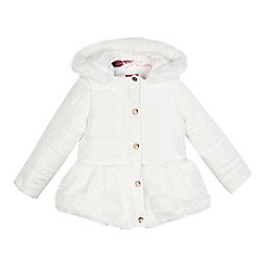 Baker by Ted Baker - Girls' white patterned fur padded coat