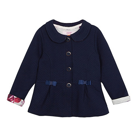 Baker by Ted Baker - Girls+ navy quilted jacket