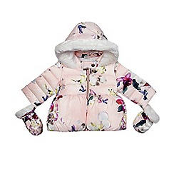 Baker by Ted Baker - Girl's pink bird print coat