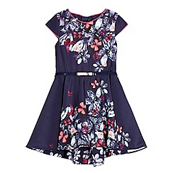 Baker by Ted Baker - Girls' navy jewel print prom dress