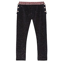Baker by Ted Baker - Girls' navy sparkle velvet leggings