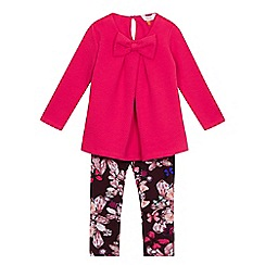 Baker by Ted Baker - Girls' pink top and floral trousers set