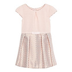 Baker by Ted Baker - Girls' light pink jacquard dress