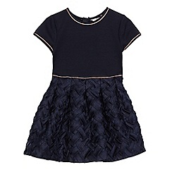 Baker by Ted Baker - Girls' navy mock lattice dress