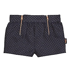 Baker by Ted Baker - Girls' navy sparkle spotted shorts