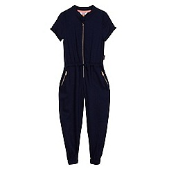 Baker by Ted Baker - Girls' navy zip front boiler suit