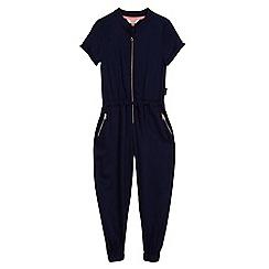 Baker by Ted Baker - Girls' navy zip front boiler suit