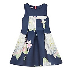 Baker by Ted Baker - Girls' navy rose print scuba dress