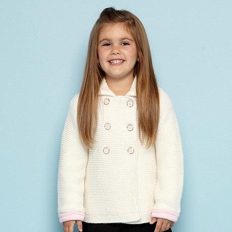 Baker by Ted Baker - Girl+s white skirted coatigan