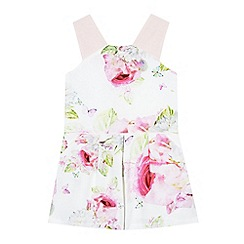 Baker by Ted Baker - Girls' pale blue and pink rose print playsuit