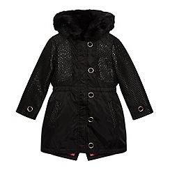Baker by Ted Baker - Girls' black 3-in-1 coat and gilet
