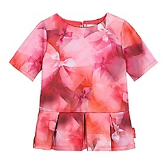 Baker by Ted Baker - Girls' pink floral print top