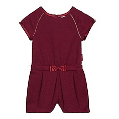 Baker by Ted Baker - Girls' dark red textured playsuit