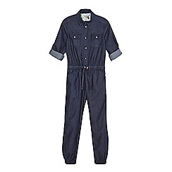 Baker by Ted Baker - Girls' navy chambray boiler suit