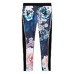 Baker by Ted Baker - Girls' blue graphic rose print leggings