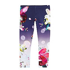 Baker by Ted Baker - Girls' navy floral and hummingbird print leggings