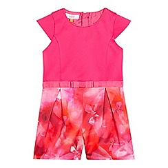 Baker by Ted Baker - Girls' pink graphic bow print playsuit