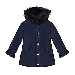 Baker by Ted Baker - Girls' navy shower resistant parka coat