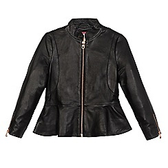 Baker by Ted Baker - Girls' black leather jacket