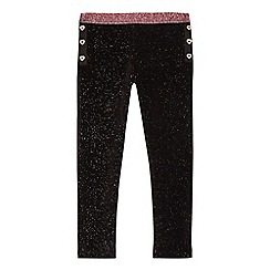 Baker by Ted Baker - Girls' black velvet glitter leggings