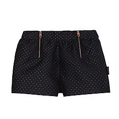 Baker by Ted Baker - Girls' black polka dot shorts