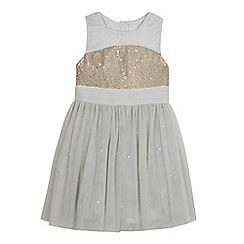 Baker by Ted Baker - Girls' grey sequin embellished tulle dress