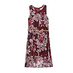 Baker by Ted Baker - Girls' dark purple printed belted dress