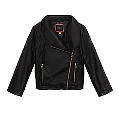 Baker by Ted Baker - Girls' black PU biker jacket