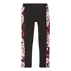 Baker by Ted Baker - Girls' black floral print leggings
