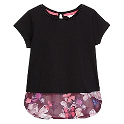 Baker by Ted Baker - Girls' black Modal® blend butterfly hem tunic