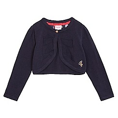 Baker by Ted Baker - Girls' navy cropped cardigan