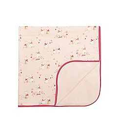 Baker by Ted Baker - Baby girls' pink bunny print blanket
