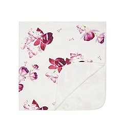 Baker by Ted Baker - Baby girls' white floral print blanket