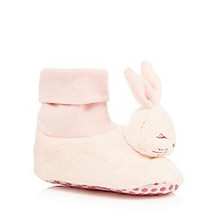 Baker by Ted Baker - Baby girls' light pink bunny slippers