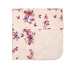 Baker by Ted Baker - Baby girls' pink flower print cotton blanket