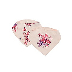 Baker by Ted Baker - Pack of two girls' pink floral print bibs