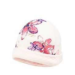 Baker by Ted Baker - Baby girls' light pink floral print reversible hat