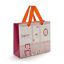 Baker by Ted Baker - Pink rocking horse print gift bag