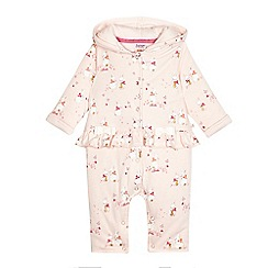 Baker by Ted Baker - Baby girls' light pink bunny print snugglesuit